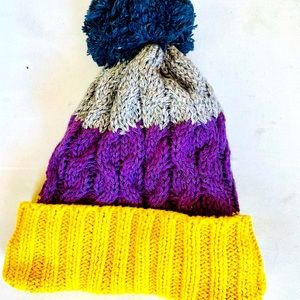 Baby Gap Kid Cozy Fleece Lined Knit Beanie Hat M/L